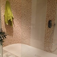After - Curved mosaic wall